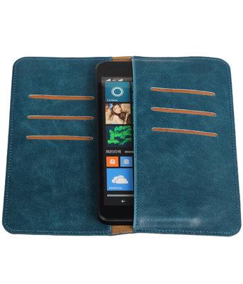Blauw Pull-up Large Pu portemonnee wallet voor Microsoft