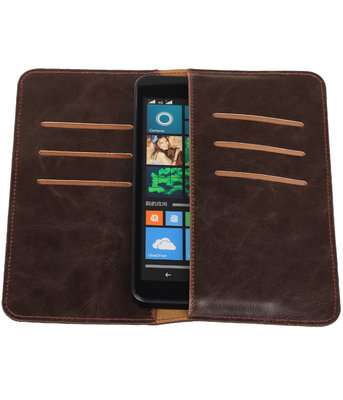 Mocca Pull-up Large Pu portemonnee wallet voor Microsoft