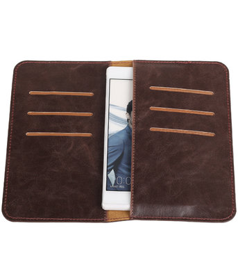 Mocca Pull-up Medium Pu portemonnee wallet voor Huawei