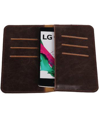 Mocca Pull-up Medium Pu portemonnee wallet voor LG
