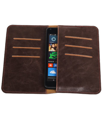 Mocca Pull-up Medium Pu portemonnee wallet voor Microsoft
