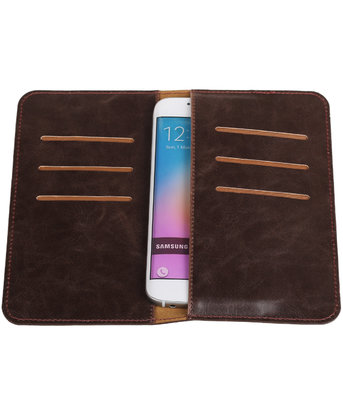 Mocca Pull-up Medium Pu portemonnee wallet voor Samsung