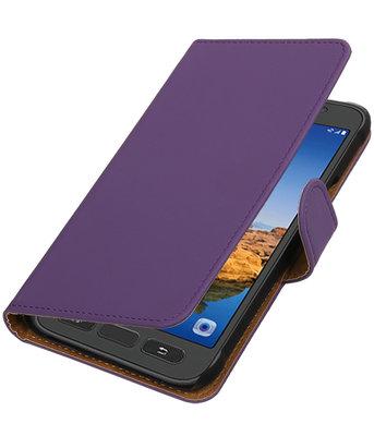 Paars Effen booktype wallet cover voor Hoesje voor Samsung Galaxy S7 Active