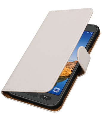 Wit Effen booktype wallet cover voor Hoesje voor Samsung Galaxy S7 Active