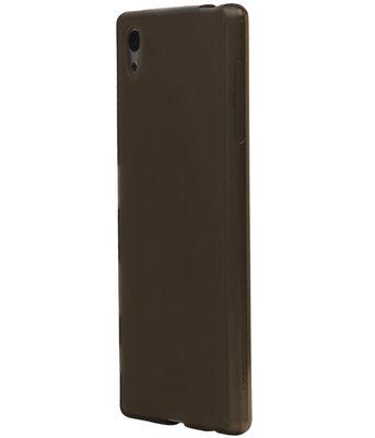Sony Xperia X TPU Cover Hoesje Transparant Grijs