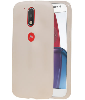 Hoesje voor Motorola Moto G4 Play TPU Cover Transparant Wit