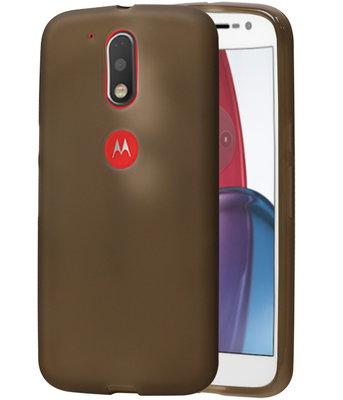 Hoesje voor Motorola Moto G4 Play TPU Cover Transparant Grijs
