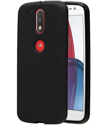 Hoesje voor Motorola Moto G4 Play TPU Cover Zwart