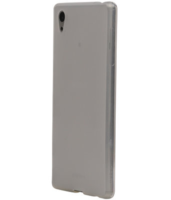 Hoesje voor Sony Xperia E5 TPU Cover Transparant Wit