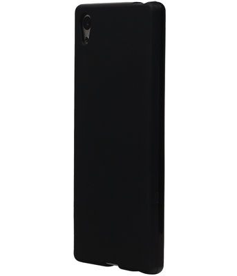 Hoesje voor Sony Xperia E5 TPU Cover Zwart