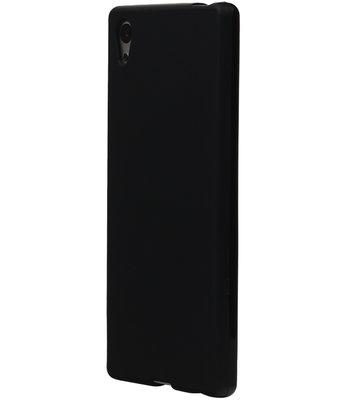 Hoesje voor LG X Screen TPU Cover Zwart
