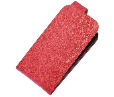 Roze Ribbel Classic flip case cover voor Hoesje voor Apple iPhone 5 / 5s / SE