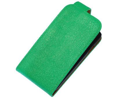 Groen Ribbel Classic flip case cover hoesje voor Apple iPhone 5 / 5s / SE