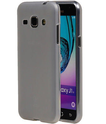 Hoesje voor Samsung Galaxy J1 2016 TPU Cover Transparant Wit
