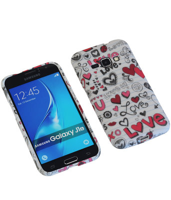 Love TPU back case cover hoesje voor Samsung Galaxy J1 2016