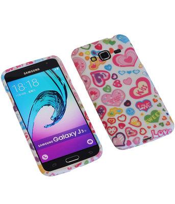 Kiss TPU back case cover voor Hoesje voor Samsung Galaxy J3