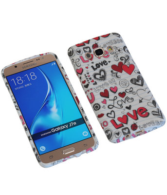 Love TPU back case cover hoesje voor Samsung Galaxy J7 2016