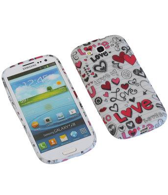 Love TPU back case cover voor Hoesje voor Samsung Galaxy S3 I9300