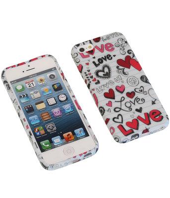 Love TPU back case cover voor Hoesje voor Apple iPhone 5 / 5s / SE