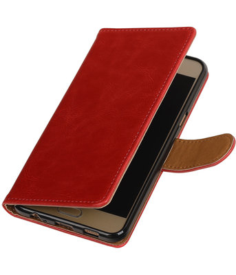 Rood Pull-Up PU booktype wallet hoesje voor Samsung Galaxy C5
