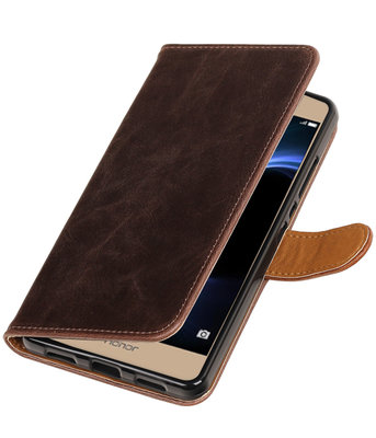 Mocca Pull-Up PU booktype wallet hoesje voor Huawei Honor V8
