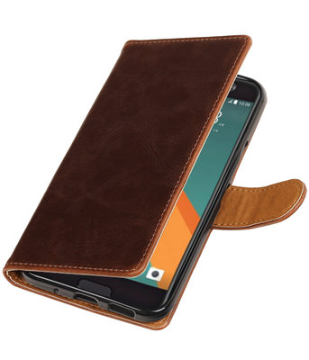 Mocca Pull-Up PU booktype wallet hoesje voor HTC 10