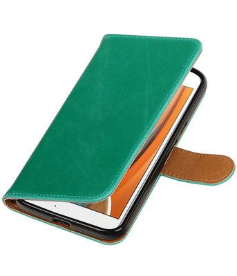 Groen Pull-Up PU booktype wallet voor Hoesje voor Motorola Moto G4 / G4 Plus