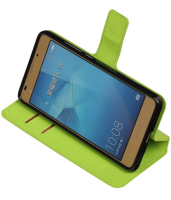 Groen Hoesje voor Huawei Honor 5c TPU wallet case booktype HM Book