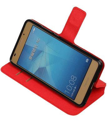 Rood Huawei Honor 5c TPU wallet case booktype hoesje HM Book