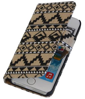 Tegel booktype wallet cover voor Hoesje voor Apple iPhone 5 / 5s / SE