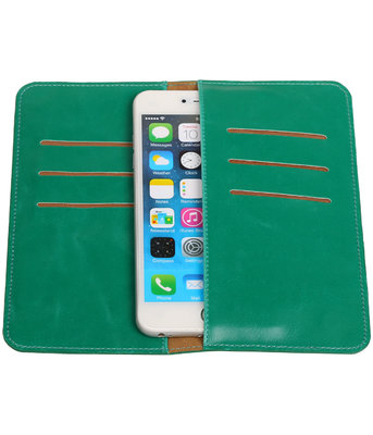 Universele Groen Pull-up Large Pu portemonnee wallet