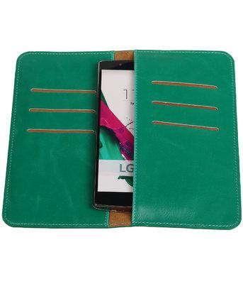 Groen Pull-up Large Pu portemonnee wallet voor LG