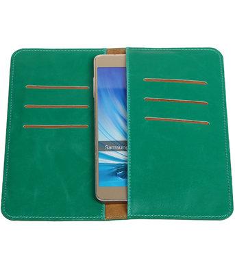 Groen Pull-up Large Pu portemonnee wallet voor Samsung
