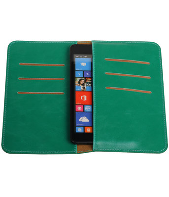 Groen Pull-up Medium Pu portemonnee wallet voor Sony