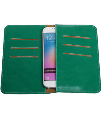 Groen Pull-up Medium Pu portemonnee wallet voor Samsung