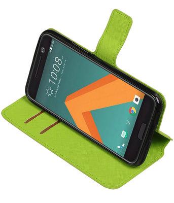Groen Hoesje voor HTC 10 TPU wallet case booktype HM Book