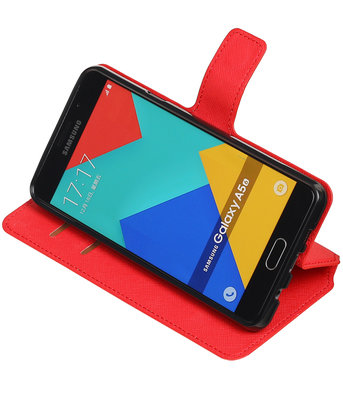 Rood Hoesje voor Samsung Galaxy A5 2016 TPU wallet case booktype HM Book