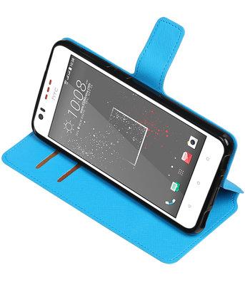 Blauw Hoesje voor HTC Desire 825 TPU wallet case booktype HM Book