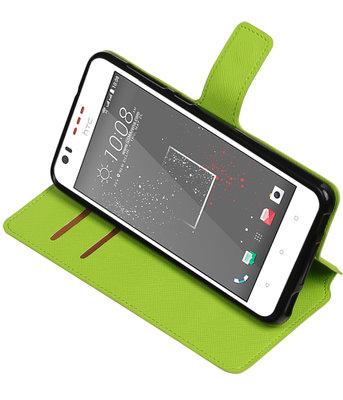 Groen Hoesje voor HTC Desire 825 TPU wallet case booktype HM Book