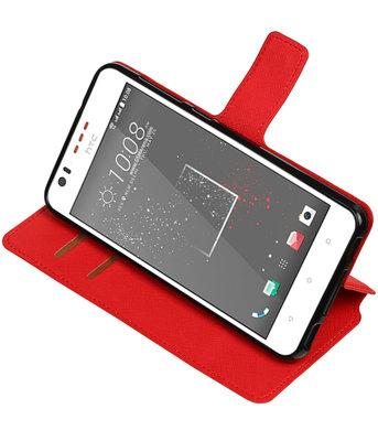 Rood Hoesje voor HTC Desire 825 TPU wallet case booktype HM Book