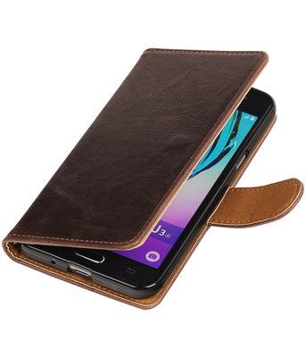 Mocca Pull-Up PU booktype wallet voor Hoesje voor Samsung Galaxy J3
