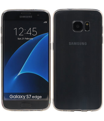 Hoesje voor Samsung Galaxy S7 Edge Cover Transparant