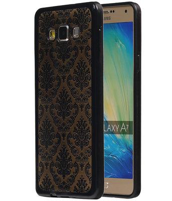 Zwart Brocant TPU back case cover voor Hoesje voor Samsung Galaxy A7 2015