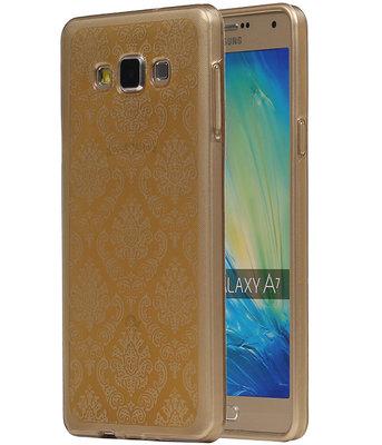 Goud Brocant TPU back case cover voor Hoesje voor Samsung Galaxy A7 2015