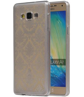 Zilver Brocant TPU back case cover voor Hoesje voor Samsung Galaxy A7 2015