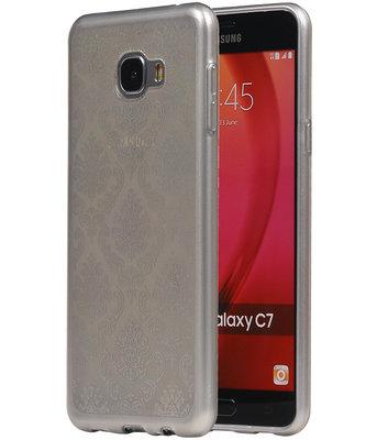 Zilver Brocant TPU back case cover voor Hoesje voor Samsung Galaxy C7