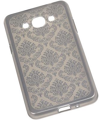 Zilver Brocant TPU back case cover voor Hoesje voor Samsung Galaxy J3 Pro