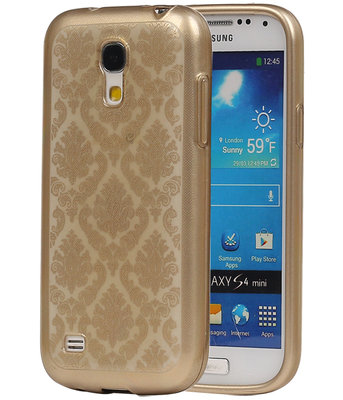 Goud Brocant TPU back case cover voor Hoesje voor Samsung Galaxy S4 Mini