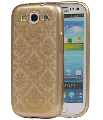 Goud Brocant TPU back case cover voor Hoesje voor Samsung Galaxy S3