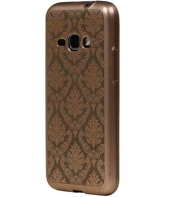 Goud Brocant TPU back case cover voor Hoesje voor Samsung Galaxy J2 2016